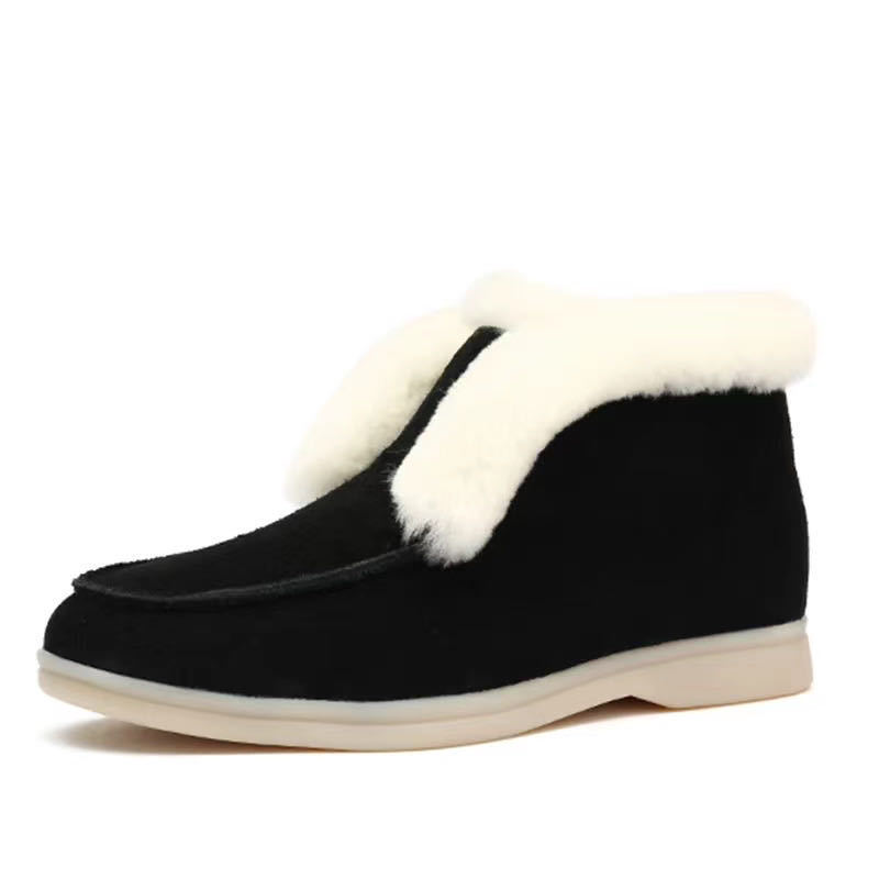 Cow Suede Leather Boots