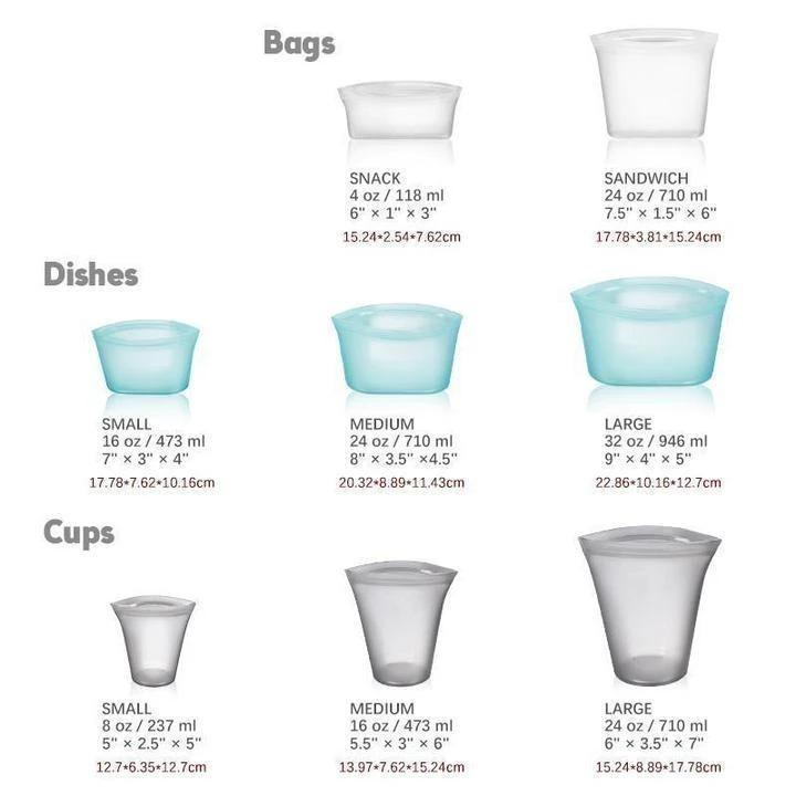 【Hot selling 2000pcs】 Zip Top Containers  - Completely Plastic-Free(Buy more save more!!!)