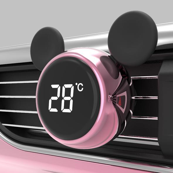 Cute Cartoon Car Smart Touch Screen Temperature Display Aromatherapy