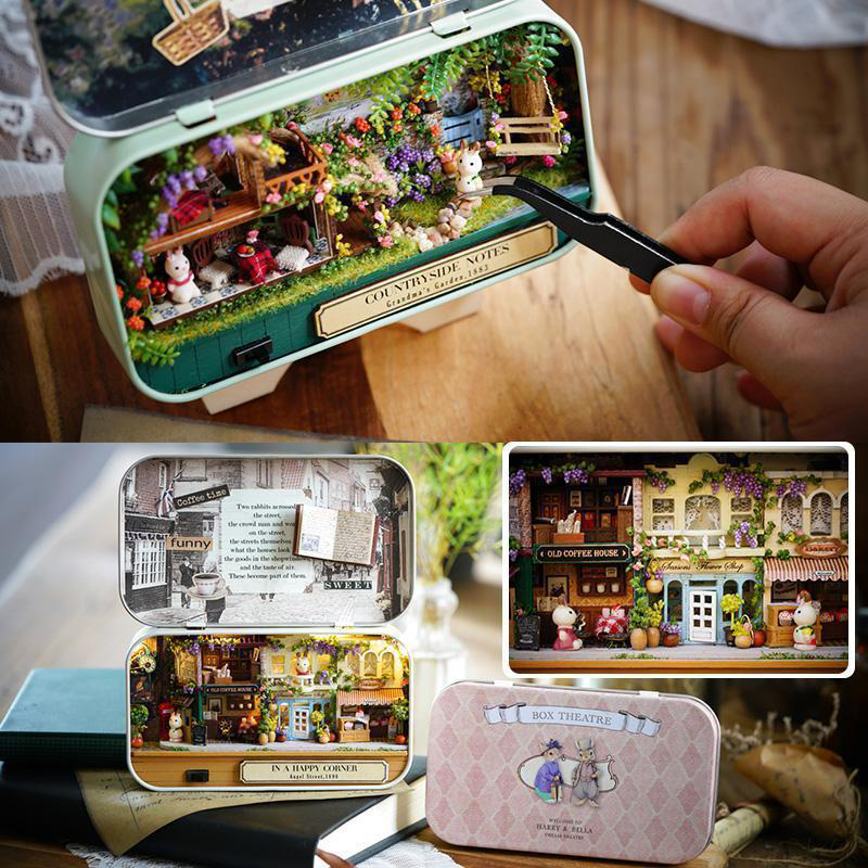 🔥50% OFF-🎁Box Theater Doll House DIY Kit