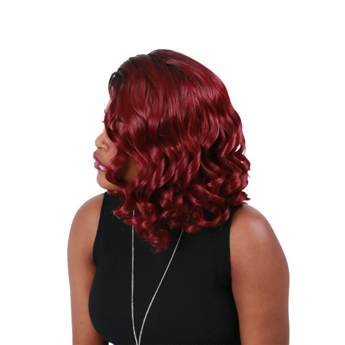 LunaWigs Gorgeous Bob Wave Curly Wigs for Women