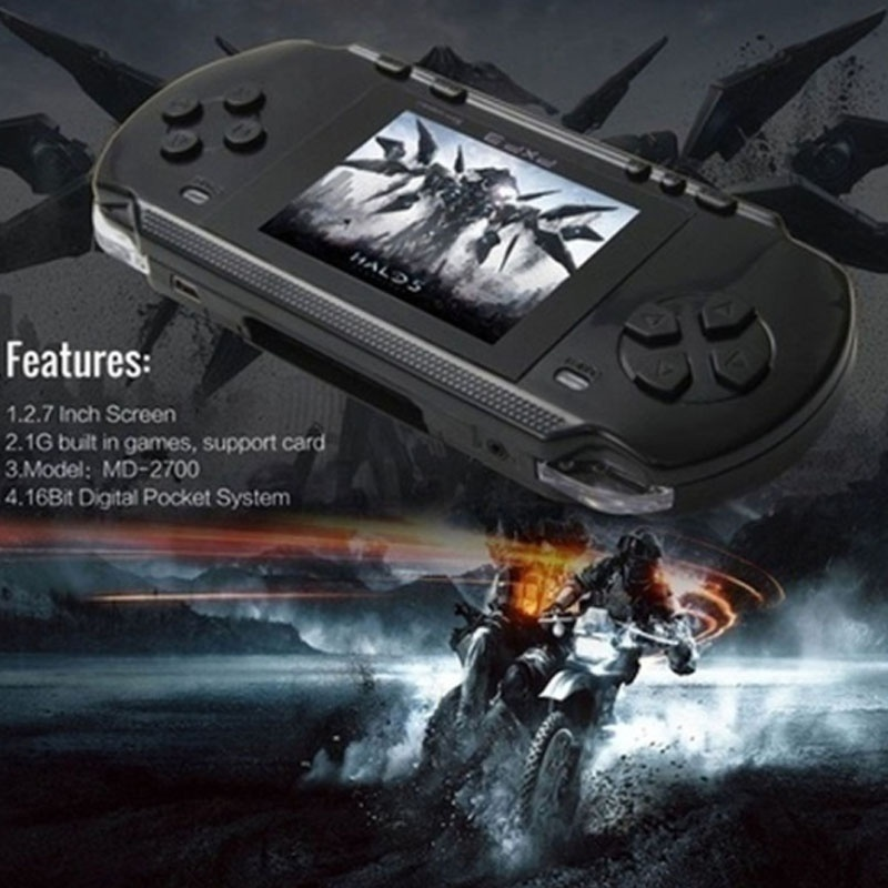 Upgraded Version 16 Bit Handheld Game Console Portable Video Game 150 Games Retro Megadrive PVP
