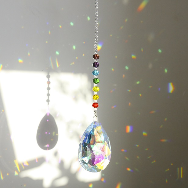 H&D Hanging Crystals Prism Suncatcher