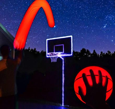 BUY 2 FREE SHIPPING - Light Up Basketball-Uses Two High Bright LED's - Official Size and Weight Size 7