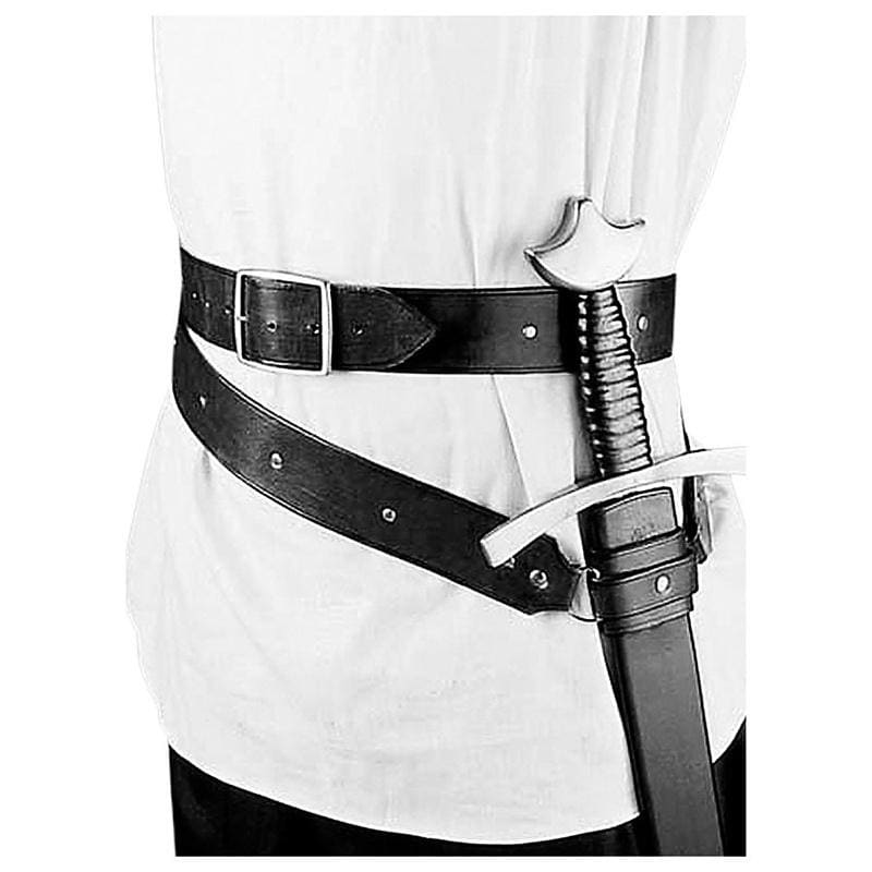 Men Vintage Medieval Warrior Leather Scabbard with Adjustable Belt Knight Sword Scabbard Celtic Cosplay Accessories