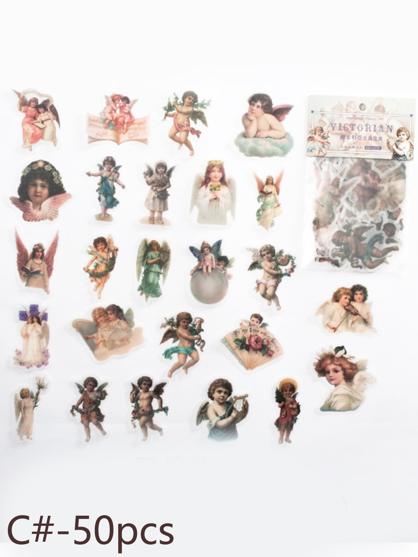 Vintage Sulfuric Acid Paper Sticker 50pcs