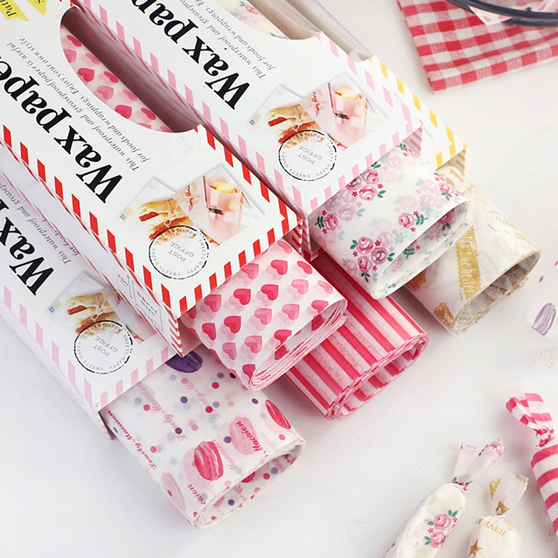 1 Roll 50X Wax Paper Grease Food Wrapping Paper For Bread Sandwich Oilpaper Baking