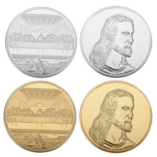 Gold Silver Jesus The Last Supper Commemorative Challenge Coin Promotional Event Commemorative Coin Gift Collection