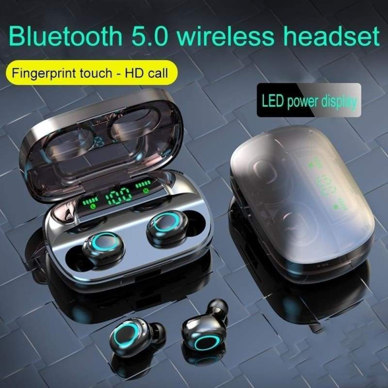 2020 Newest 8D Surround Sound TWS Earphones Wireless Bluetooth 5.0 Stereo Earbuds Sport Waterproof Headphones Touch Control Dual Headsets Mini Earbuds With with Power Bank Chaging Case 1200mAh/3500mAh