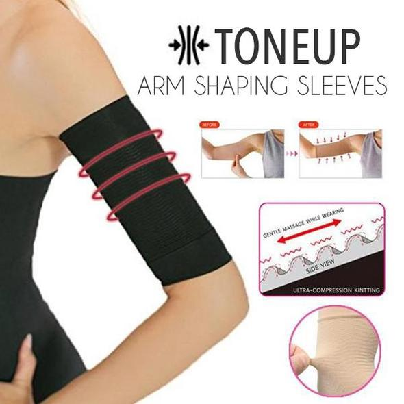 Arosetop (Only $14.92 Get A Pair) ToneUp Arm Shaping Sleeves Compression Arm Shaper Slimming Sleeve