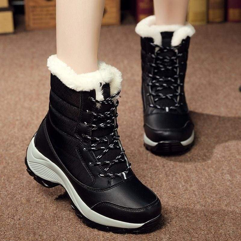 2019 New Women Warm Winter Boots Thick Waterproof Snow Boots Shoes Platform Ankle Boots