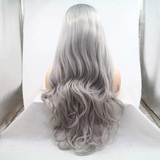 Gray Wigs Lace Frontal Wigs Front Lace Wigs For CaucasianPremature Grey Hair Cure