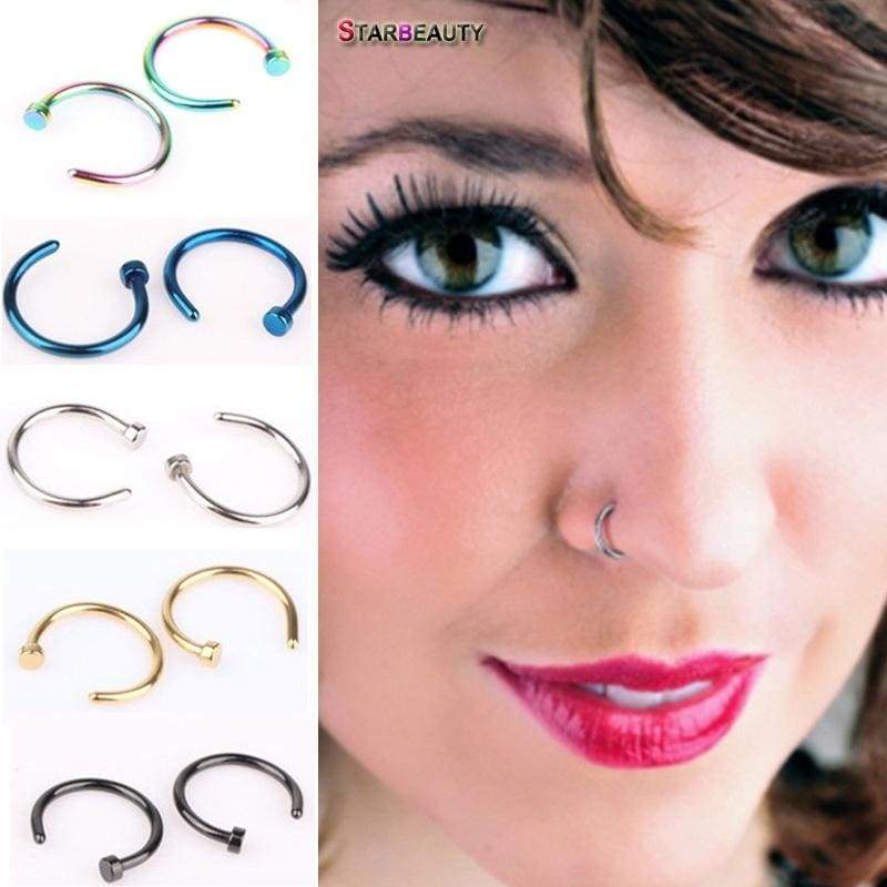 Starbeauty 2 Pcs Lot 18g C Shaped Fake Nose Ring Rose Gold Kylie Lip P Nicerin Best Goods Free Shipping