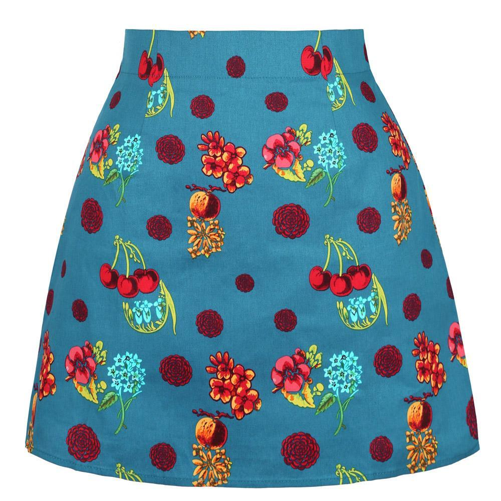 Vintage Printed Mini Skirt