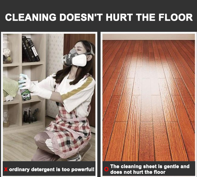 Instant floor cleaning soap
