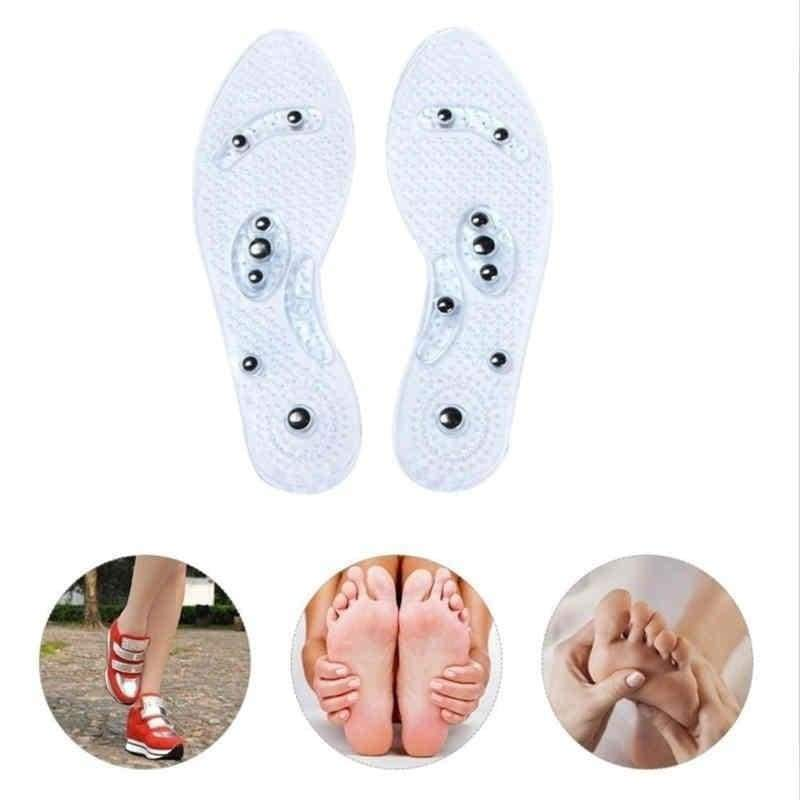 Men and Women Fashion Magnetic Therapy Insole Transparent Silicone Anti-fatigue Health Care Massage Insoles