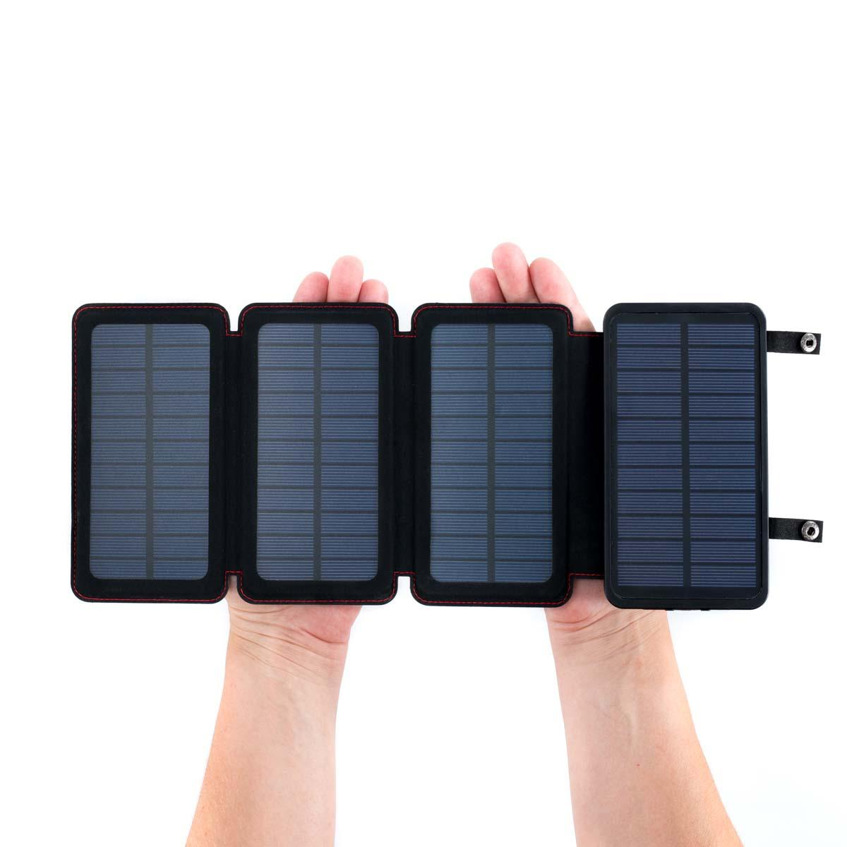 QuadraPro Solar Power Bank with Wireless & Dual USB Charging