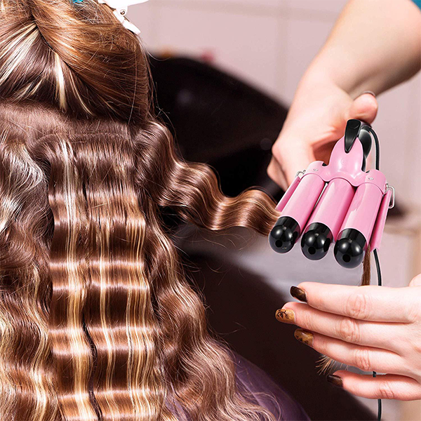 🔥50%OFF🔥-LCD Display Ceramic Triple Barrel Curling Iron