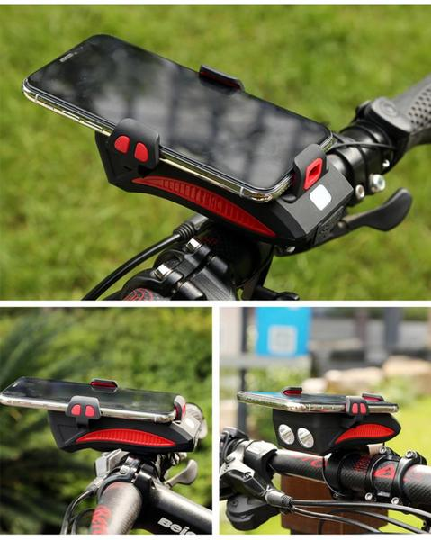 HOT SALE - 4-in-1 Multi-function Bicycle Front Light