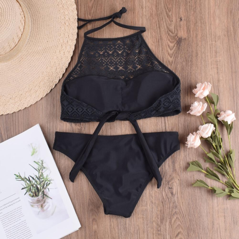 Sexy Hollow Out Halter Swimwear