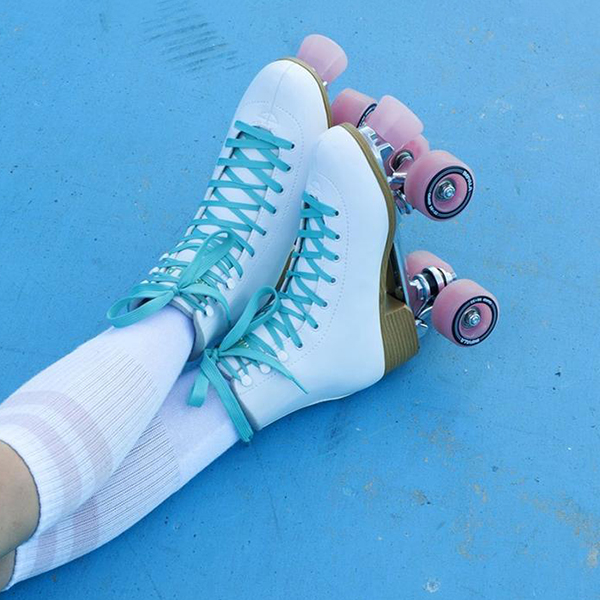 Faddishshoes Multi Color Lace-Up Quad Skate