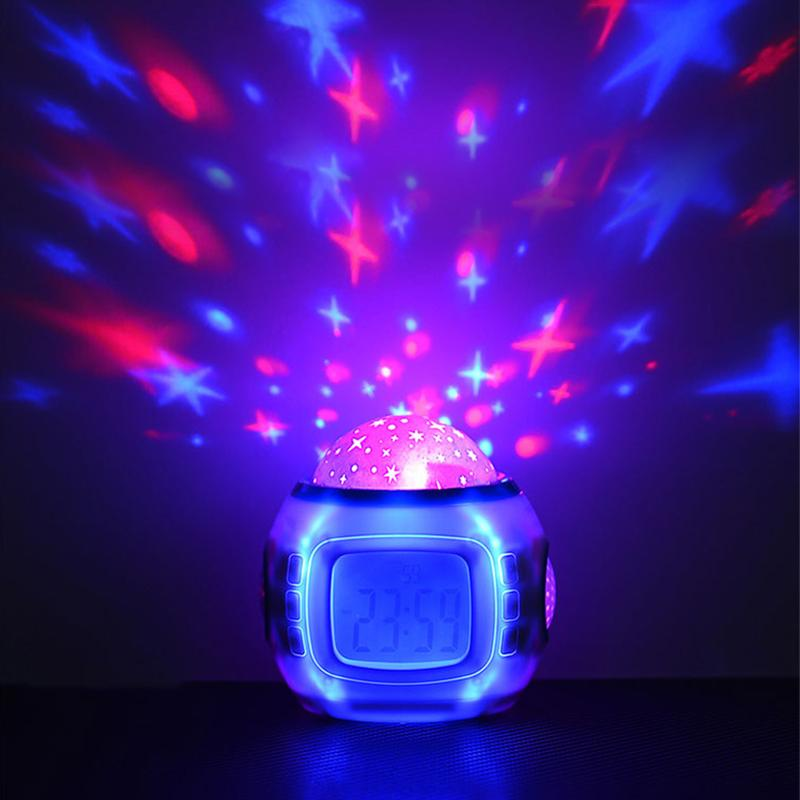 Projection lamp electronic alarm clock