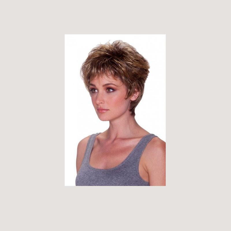 KAMI 120 Short Curly Layered Wig with Bangs Handsome Sweetheart