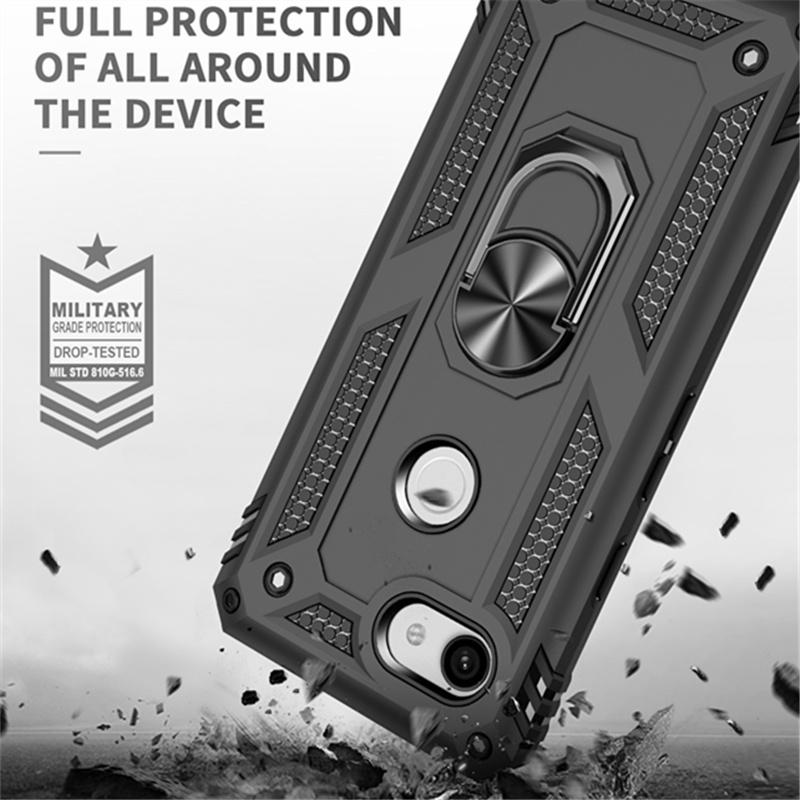 Anti-knock Hybrid Protection Case for Google Pixel 3A XL Metal Ring Kickstand Back Cover Capa