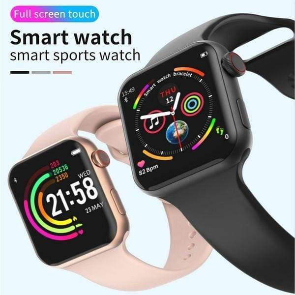 Smartwatches M?nner Frauen Fitness Tracker HD Farbdisplay Smartwatch Armband Fernbedienung Uhr Herzfrequenz Tracker Wasserdichte Uhren PK IOS 4ND SERIES