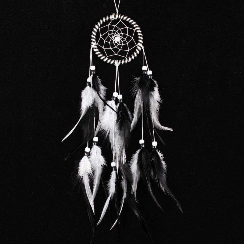 Dream catcher wall hanging decor wolf feather ornaments with pattern