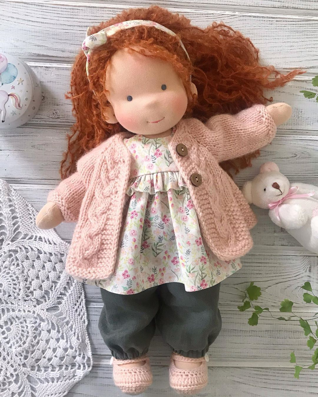 Liberty Dress For Waldorf Doll - Doll Clothing #4
