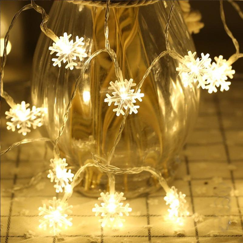 20 LED Snowflake Shaped Christmas String Lights for Christmas/New Year