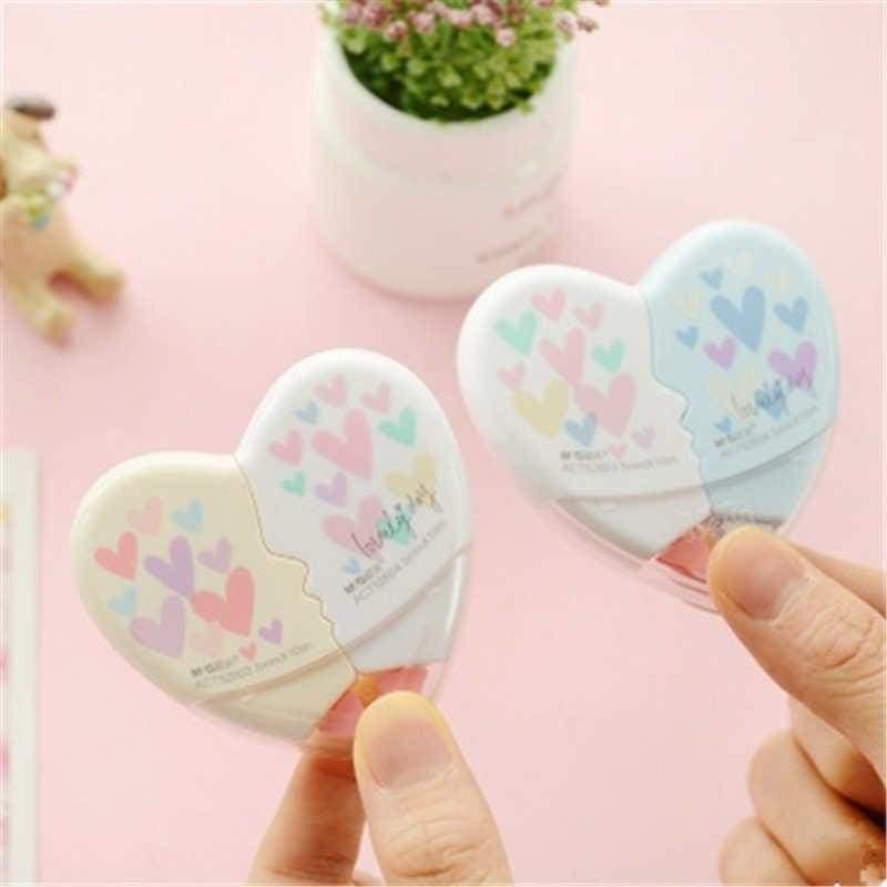 Office & School Supplies Novelty Heart Shaped Correction Tape 10m