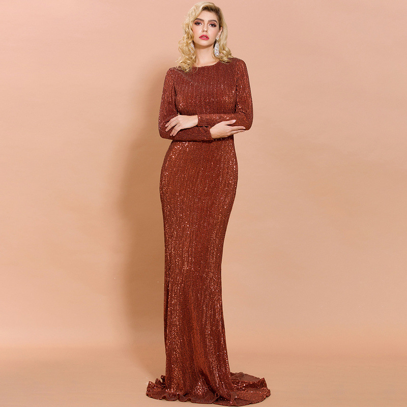 Sexy fishtail slim long mopping party evening dress