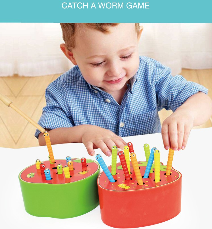 Early childhood magnetic caterpillar toy