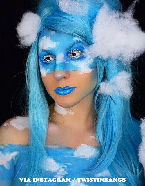 Blue Wigs Lace Frontal Wigs Cheap Human Wigs Smokey Blue Hair Sky Wig 001 Best Hair Color For Pale Skin Blue Eyes