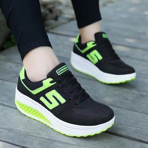 Women Running Comfortable Platform Sport Sneakers Shoes