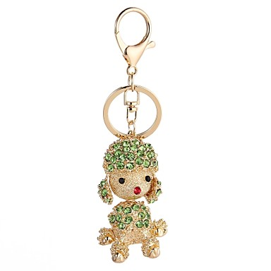 Keychain Dog Casual Fashion Ring Jewelry Red / Light Blue / Light Green For Gift Daily