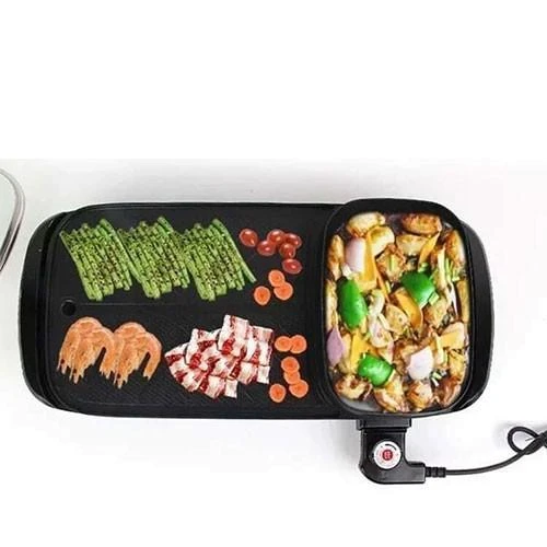 Korean Samgyupsal 2 IN 1 Electric BBQ Grill With Hotpot