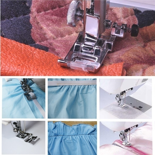 11pcs/set Household Sewing Machine Parts Quilting Zipper Walking Foot Presser Feet Kit