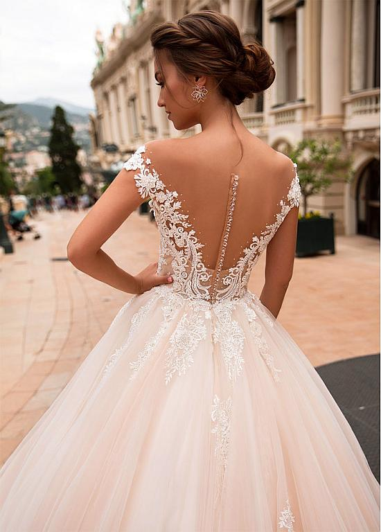 Lace Wedding Dresses 2020 New 715 Winter Wedding Outfits For Ladies Cold Shoulder Dress Pink Lace Gown Nigerian Dresses Amazing Wedding Dresses Tea Length Wedding Dresses For Older Brides