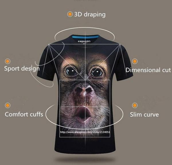 (❤️Women's Day Flash Sale - 50% OFF)Funny Monkey T-Shirt Awesome Gift For Adults And Kids