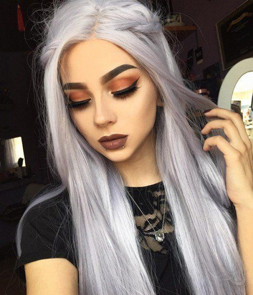 Gray Hair Wigs For African American Women 6X6 Closure Wig Gray Synthetic Wigs Human Hair Wigs Online Grey Ombre On Brown Hair Ciel Phantomhive Wig