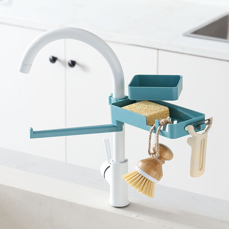 (Early Mother's Day Hot Sale-50% OFF) Double Layer Faucet Rack