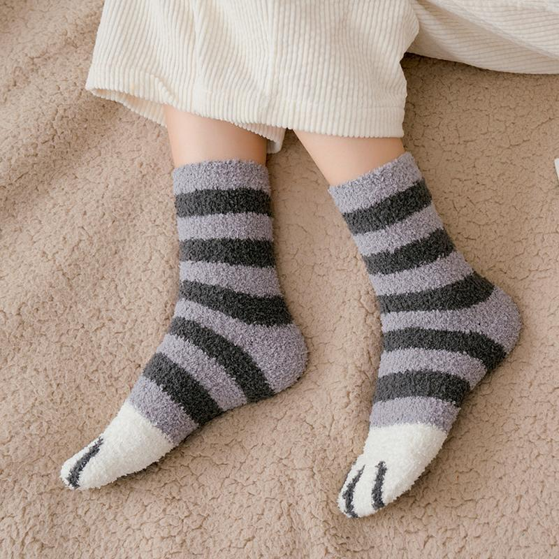 6 Pairs Cute Cat Claw Socks🎅Christmas Spoon Set - 60% Off Today!