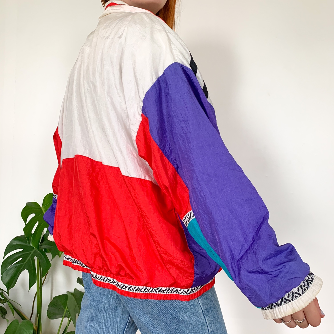 Cool colorful abstract windbreaker jacket