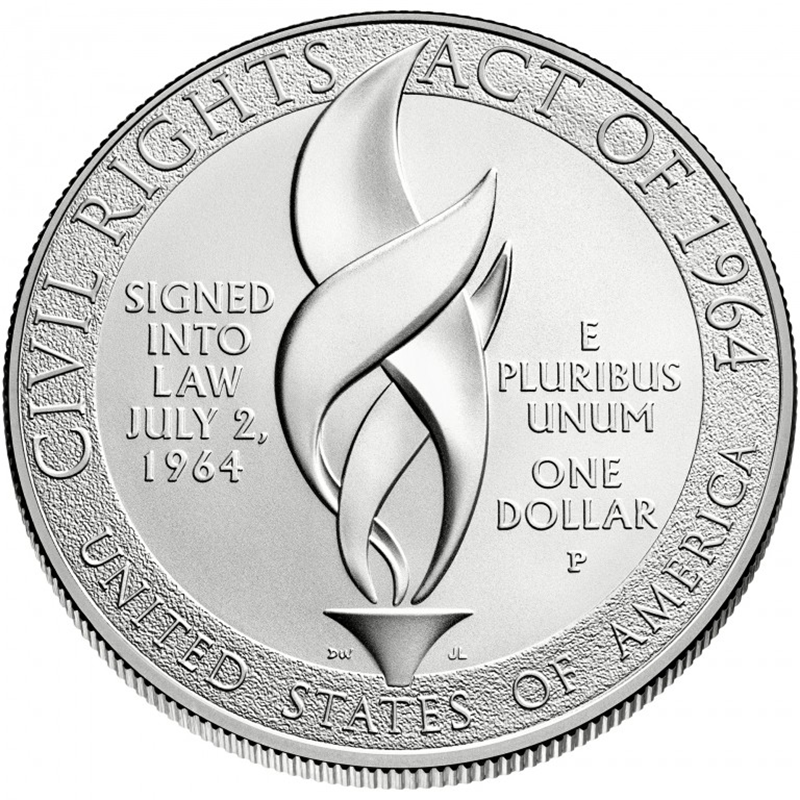 Civil Rights Act of 1964 Silver Dollar