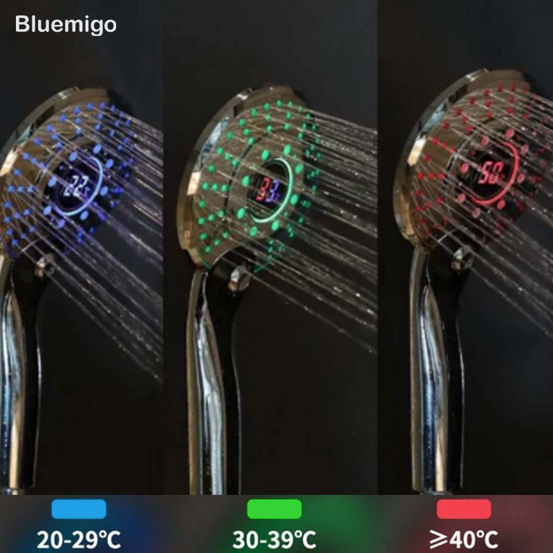 LED shower head Colorful way to shower