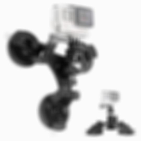 SKRTEN 3 Suction Cup Camera Stabilization Bracket with 1/4 Threaded Head 360° Tripod Ball Head