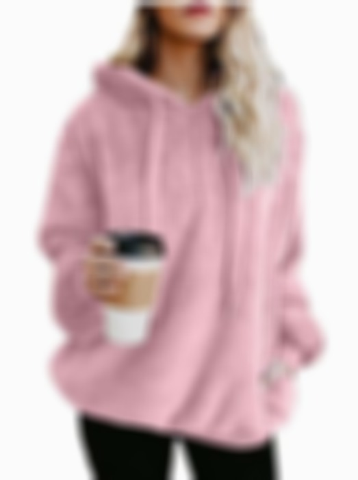 Fleece Zip Thicken Pullover Hoodie Winter